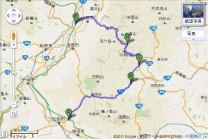 20110812渋峠ツーリングルート