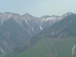 しらびそ峠から見る南アルプス方面