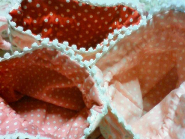 イチゴ巾着内布