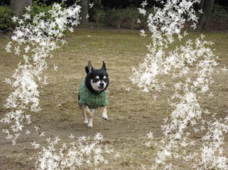 モコモコ手編みセーター2