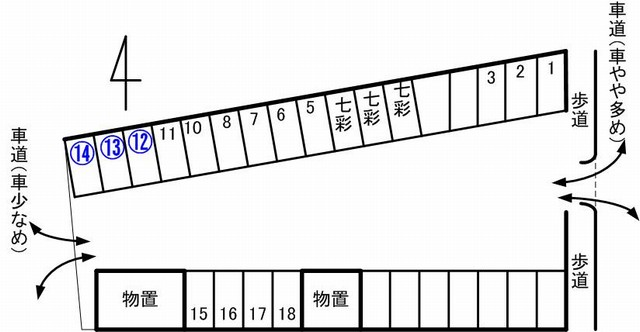 aoiku cafe第二駐車場見取り図