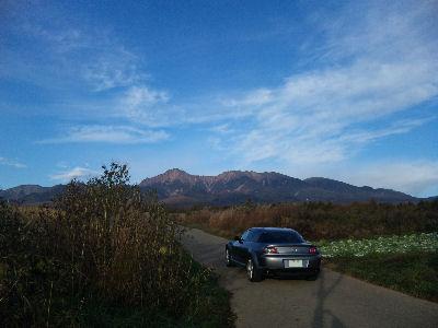 マツダRX-8と八ヶ岳山麓