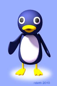 3Dペンギン・正面