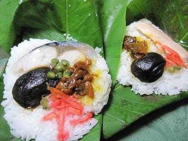 朴葉(ほうば)寿司(≧▽≦)♪