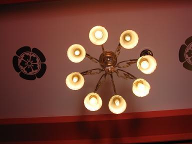 ランプはレトロで素敵だった。