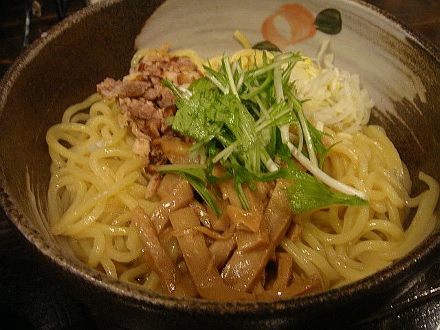 油そばつけ麺@椿