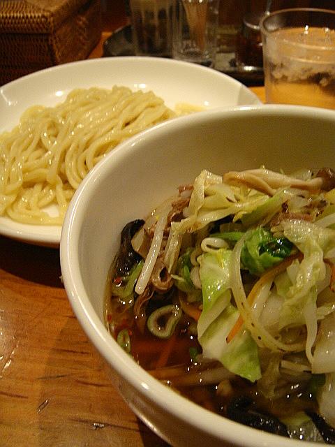 醤油野菜つけ麺@すずらん
