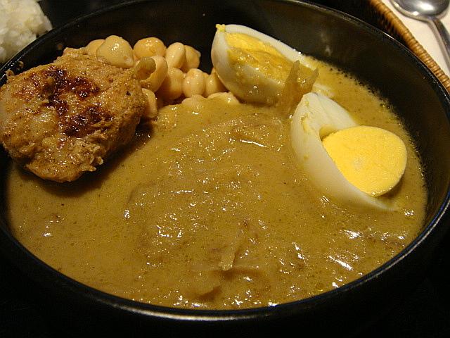 グリーンカレー+ひよこ豆+タンドリーチキン@@ HARE GINZA