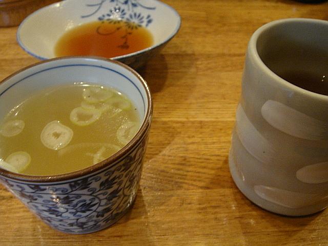 鶏スープとお茶@宮川