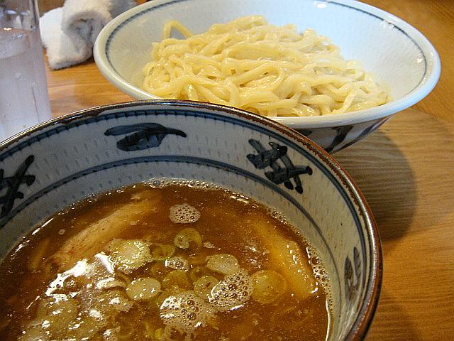 煮干し一段搾りつけ麺(並盛)@月と鼈