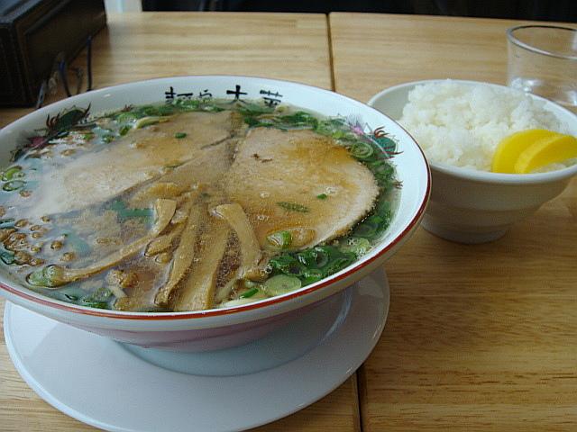 ラーメン(並)とライス@麺や 太華
