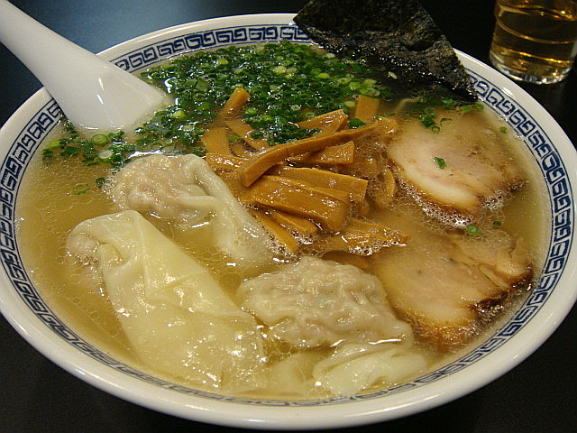 ワンタン麺(塩)@徒歩徒歩亭