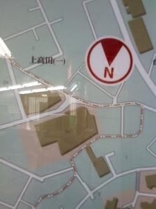 下が北の地図