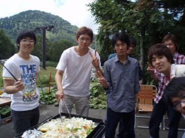2010年夏合宿バーベキュー