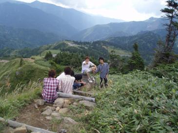 2009年夏合宿山下りその2