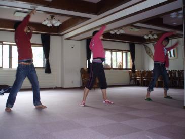 2009年夏合宿ラジオ体操
