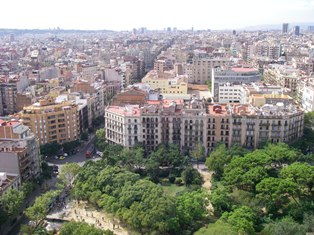 バルセロナの街並み(1)