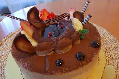 生チョコケーキ家用