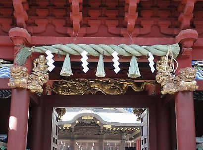 初詣の準備浅間神社-2
