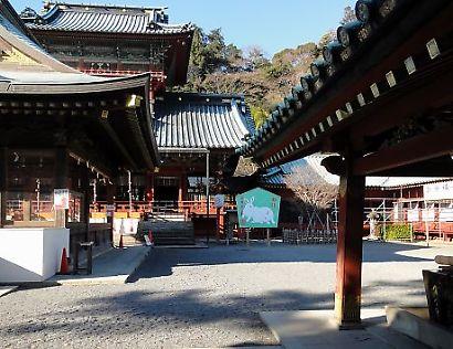 初詣の準備浅間神社-3