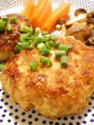 肉味噌豆腐ハンバーグ