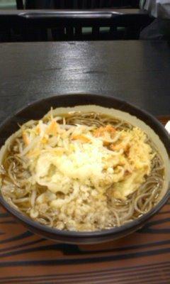野菜そば+かき揚げ