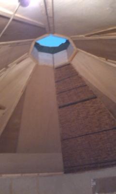 籾殻ハウス天窓
