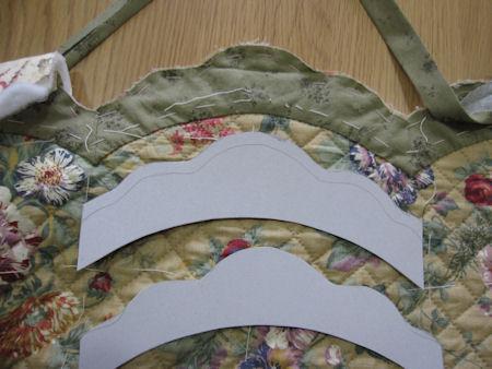 スカラップ型紙