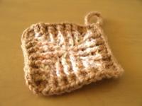 引き上げ長編みモチーフ