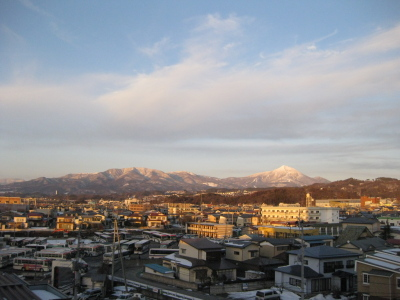 磐梯山(会津若松より)