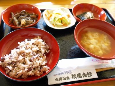 祭朝食@会津田島祇園会館
