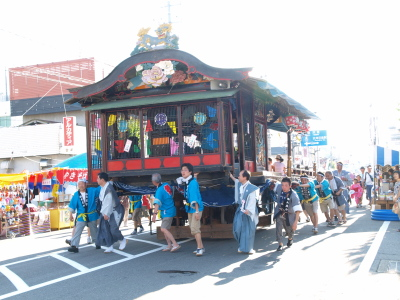 屋台運行@会津田島祇園祭_2010/07/23昨夏