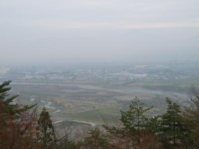 会津の眺望@向羽黒山城二ノ丸(ニの曲輪)跡より