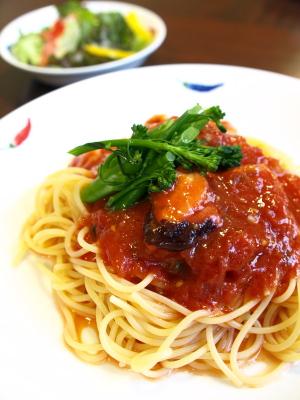 冷製トマトソースパスタ@ドッグラン&カフェVICTORY