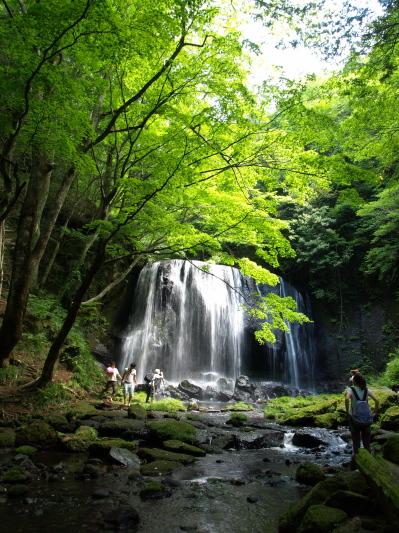 夏の達沢不動滝
