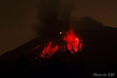 桜島の噴火 01
