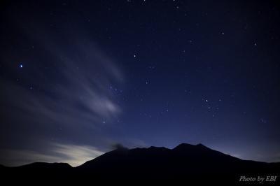 桜島夜間撮影