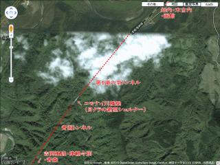 青函トンネル北海道側上空写真