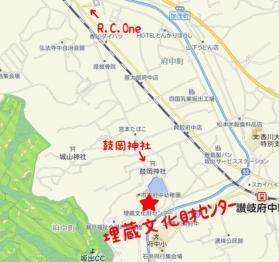 香川県埋蔵文化財センター地図