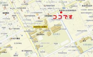 こがね製麺所地図