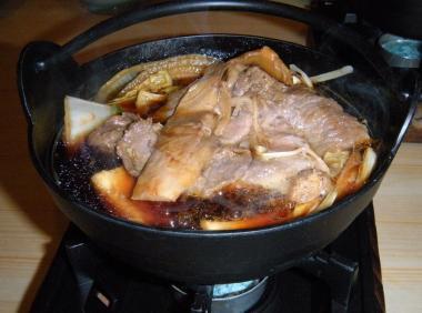 さんご松茸のすき焼き