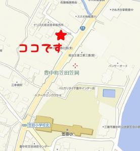 Cafe de COMU地図