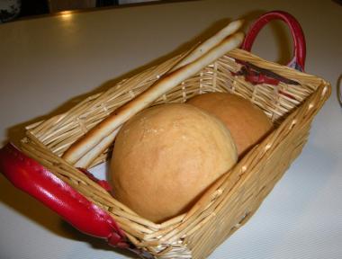 プレーゴパンとブルスケッタ