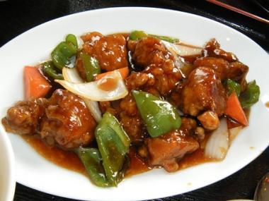 桃華楼黒酢の酢豚2
