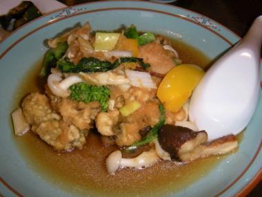 長江季節Aカキと菜の花のあっさり炒め