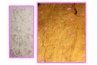 宮が尾古墳の壁画2