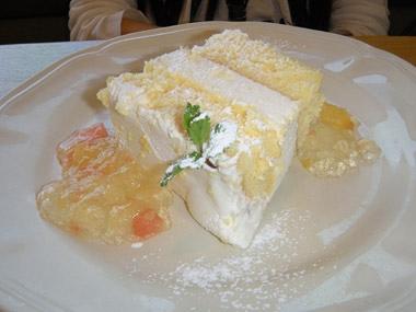 afternoonシトラスゼリーとヨーグルトムースのショートケーキ