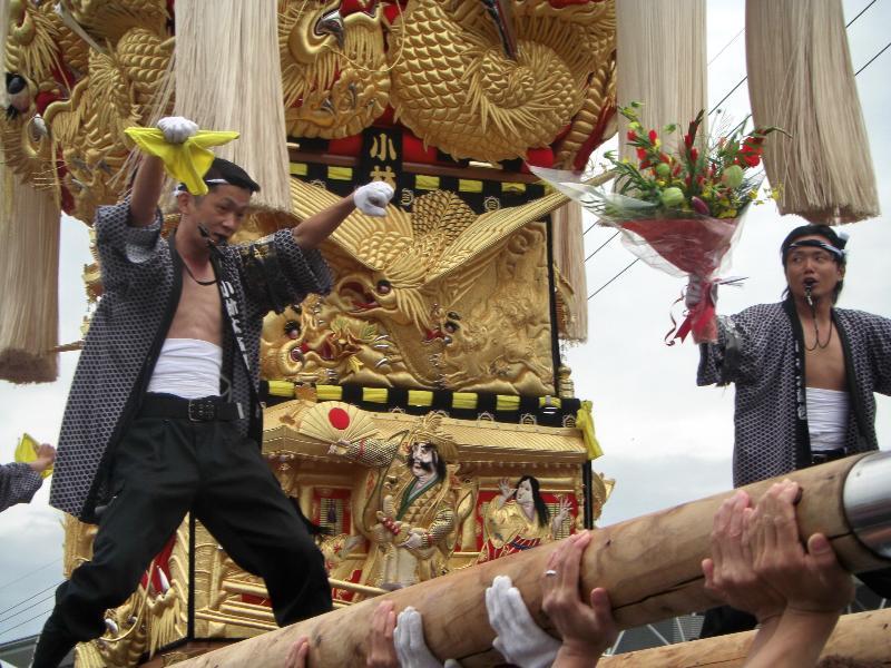 土居秋祭り 関川会場 小林太鼓台