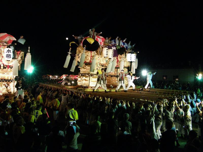 新居浜太鼓祭り 大生院地区・中萩地区夜太鼓