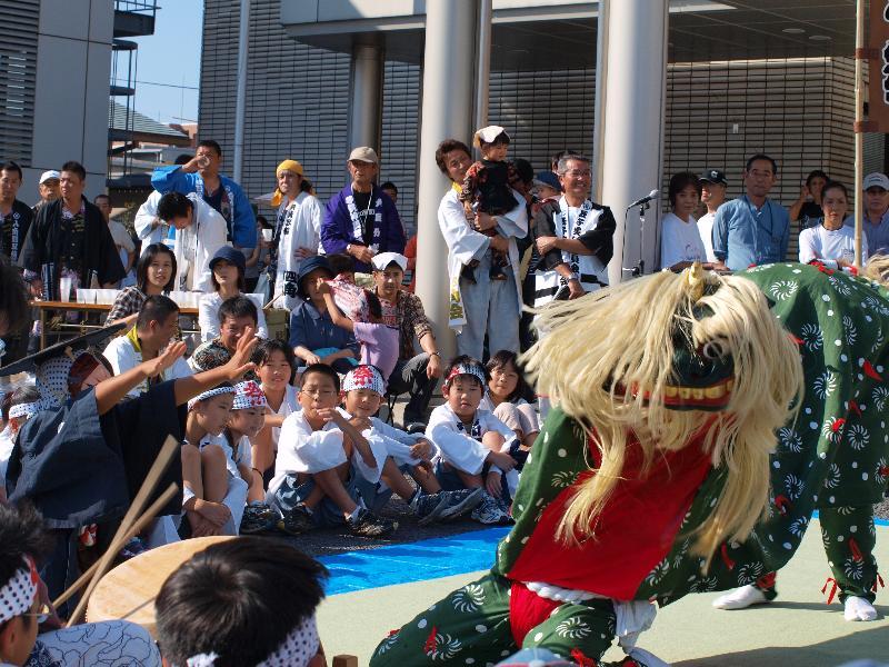 松山秋祭り 四角・八角 イベント 浅海獅子舞